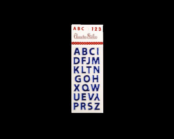 Наклейка пластик выпуклая «Английский алфавит» МИКС