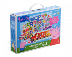 Подарочный набор 6 в 1 «Учиться весело!» Свинка Пеппа