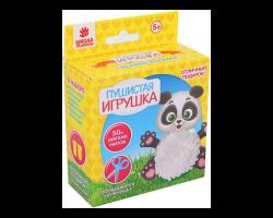 Пушистая игрушка из помпона «Панда»