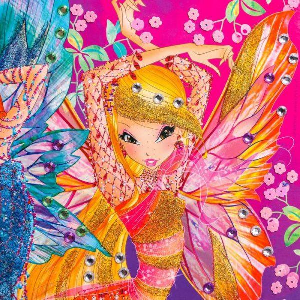 Аппликация стразами и блестами «Милая фея!», феи Винкс: Блум и Стелла