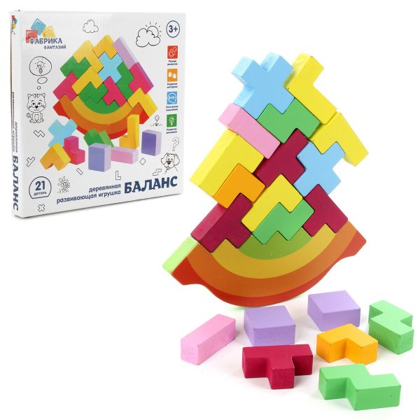 Деревянная игрушка Баланс «Голомоломка»