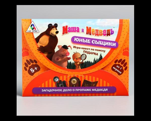 Квест-игра по поиску подарка «Юные сыщики», Маша и Медведь