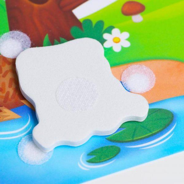 Игра на липучках «Кто где живёт?» с мягкими деталями