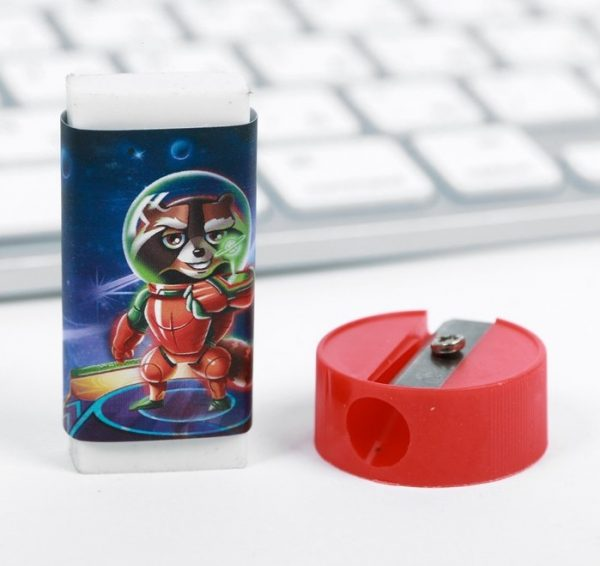 Канцелярский набор «Космическое приключение», 5 предметов + пазл
