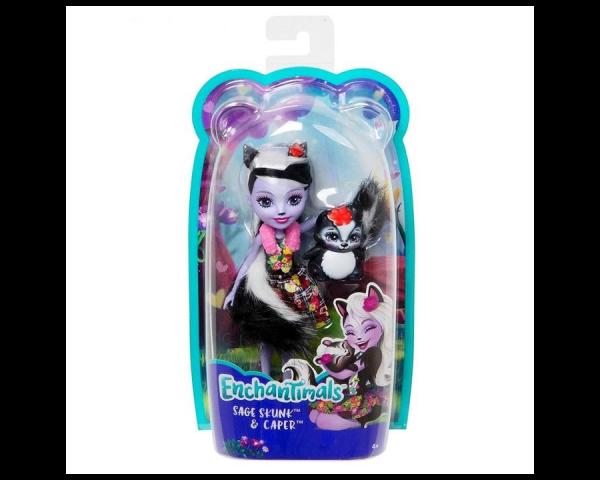 Кукла «Сейдж Скунси с питомцем Кейпер», Энчантималс