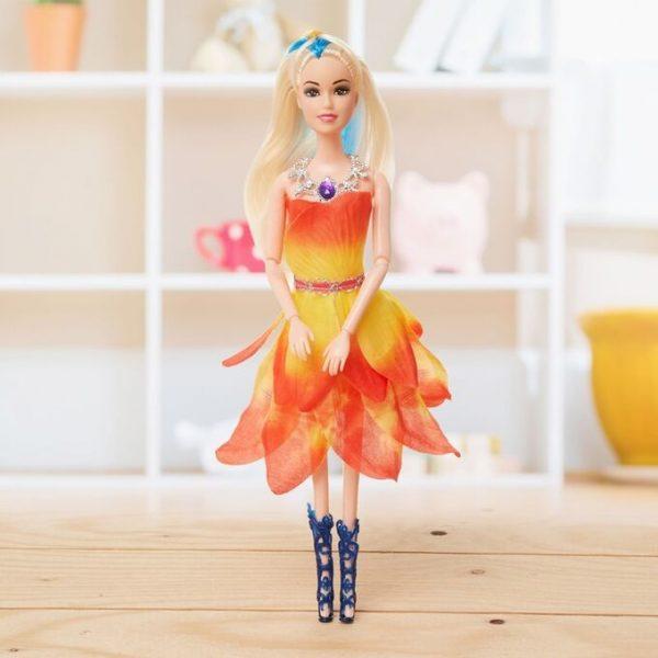 Кукла сказочная шарнирная «Цветочек» с ожерельем