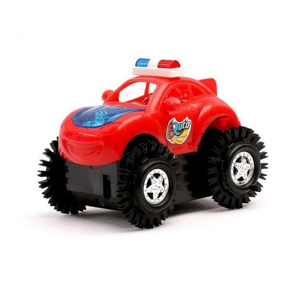 Машина-перевертыш «Полиция», работает от батареек, световые эффекты
