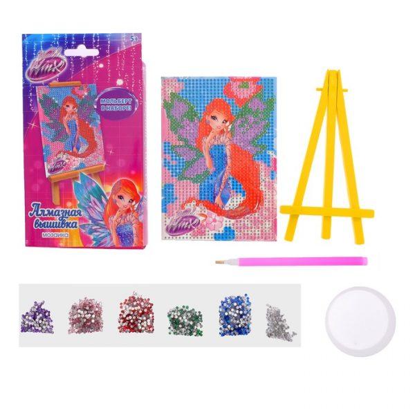 Алмазная мозаика для детей Феи ВИНКС: Блум