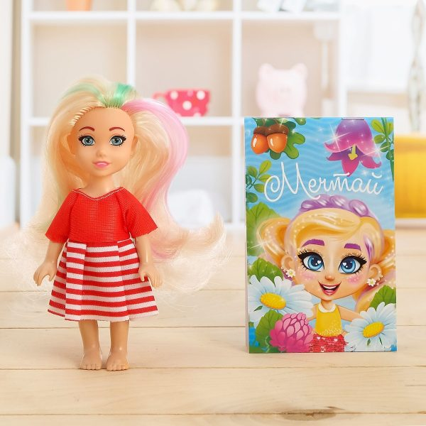 Набор «Милой девочке», куколка с блокнотом
