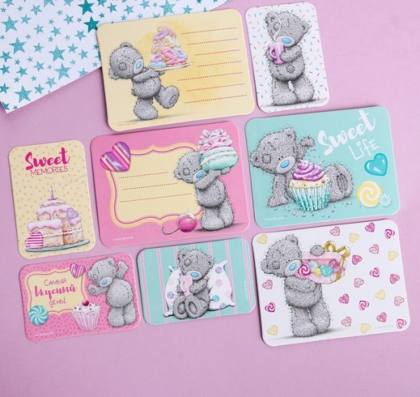 Открытки «Sweet!», набор для скрапбукинга, Me to You