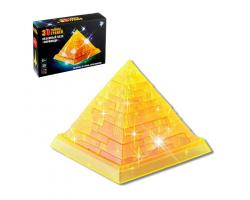 Пазл 3D кристаллический «Пирамида», 38 деталей, световой эффект