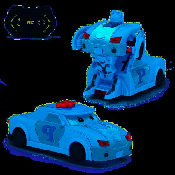 Робот-трансформер радиоуправляемый «Полицейский», работает от батареек, МИКС