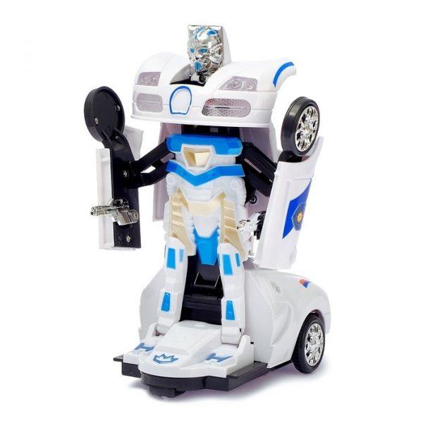 Робот-трансформер радиоуправляемый «Полицейский», световые и звуковые эффекты