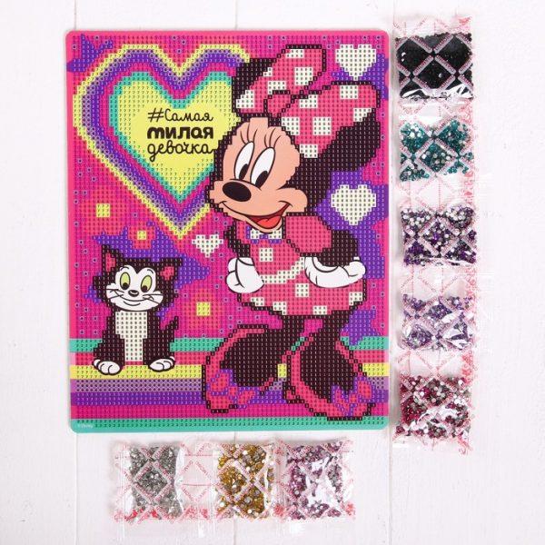 Алмазная мозаика для детей «Самая милая девочка», Минни Маус
