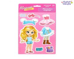 Магнитная игра «Одень куклу: Маленькая модница»