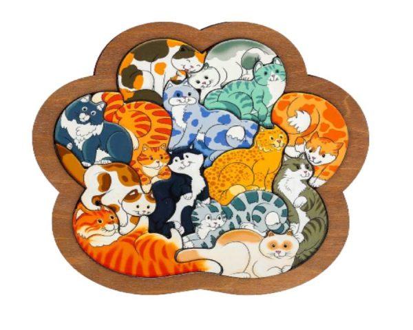 Зоопазл «Кошки» 14 деталей (дерево)