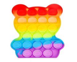 Развивающая игрушка POP IT, медвежонок, радуга
