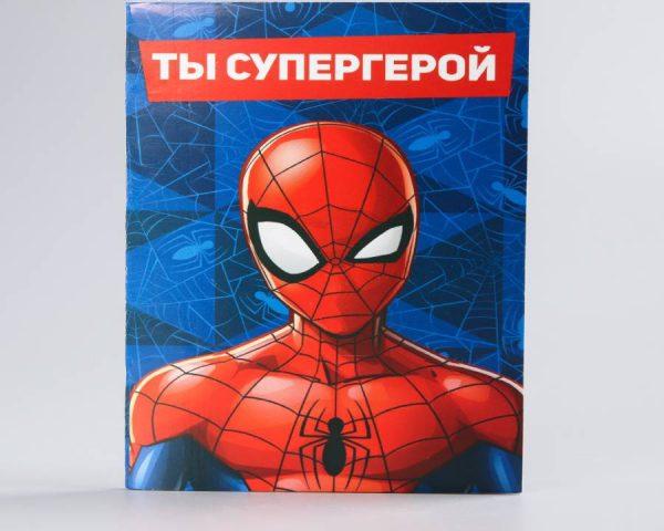 Блокнот на скрепке MARVEL «Человек-паук», 32 листа, А6
