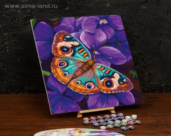 Картина по номерам на холсте с подрамником «Бабочка» 40×50 см