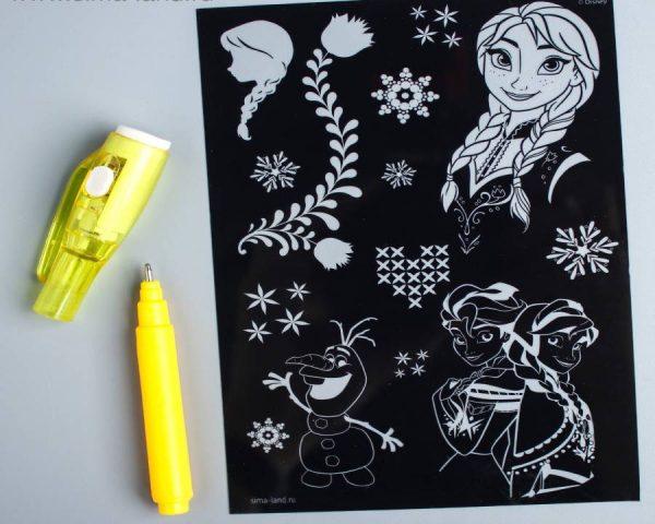 Набор для рисования светом «Анна и Эльза», Холодное сердце