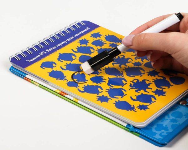 Развивающая игра «Найди и покажи! Монстрики» с маркером, 5+